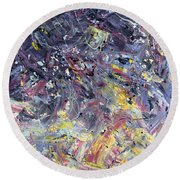 Paint Number 55 Round Beach Towel