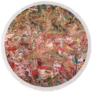 Paint Number 56 Round Beach Towel