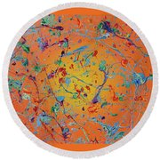 Paint Number Thirty Seven Round Beach Towel