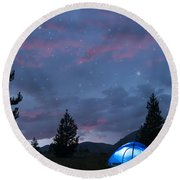 Paint The Sky With Stars Round Beach Towel