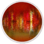 Paint The Town Red Round Beach Towel by Stuart Turnbull
