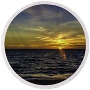 Painted By God Round Beach Towel by Mary Carol Story