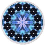 Painted Cymatics 108.00hz Round Beach Towel by Derek Gedney