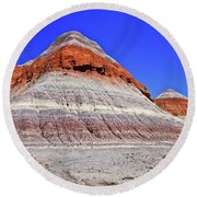Round Beach Towel featuring the photograph Painted Desert National Park by Bob and Nadine Johnston