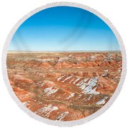 Painted Desert, Petrified Forest Round Beach Towel