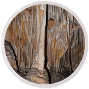 Painted Grotto Carlsbad Caverns National Park Round Beach Towel
