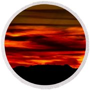 Round Beach Towel featuring the photograph Painted Sky 34 by Mark Myhaver