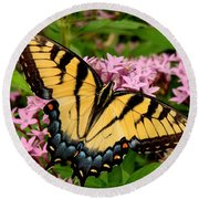 Painted Wings Round Beach Towel by Rodney Lee Williams