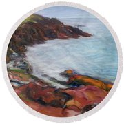 Painterly - Bold Seascape Round Beach Towel