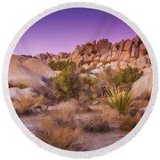 Painterly Desert Round Beach Towel