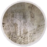 Painting West Wall Tomb Of Ramose T55 - Stock Image - Fine Art Print - Ancient Egypt Round Beach Towel