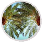 Pair Of Palms Vegas Style Round Beach Towel