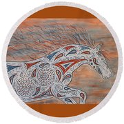 Paisley Spirit Round Beach Towel by Susie WEBER