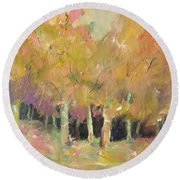 Pale Forest Round Beach Towel