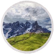 Round Beach Towel featuring the photograph Pale San Martino - Hdr by Antonio Scarpi