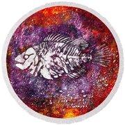 Paleo Fish Round Beach Towel