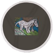 Out There Alone. Round Beach Towel by Jonathon Hansen