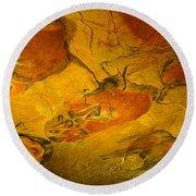 Paleolithic Paintings, Altamira Cave Round Beach Towel