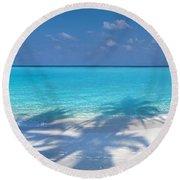 Palm Escape Round Beach Towel