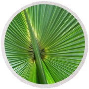 Round Beach Towel featuring the photograph Palm Love by Roselynne Broussard