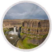 Palouse Falls Round Beach Towel