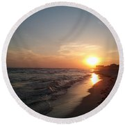 Panama City Beach Sunset Round Beach Towel