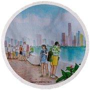 Panama City Panama Round Beach Towel