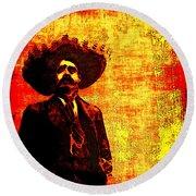 Pancho Villa Round Beach Towel by Joan  Minchak