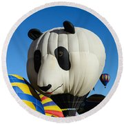 Panda Balloon Round Beach Towel
