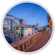 Panorama Giant Dipper Goes 360 Round And Round Round Beach Towel
