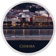 Panorama Of Cedeira Galicia Spain Round Beach Towel
