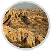 Panorama Point Badlands National Park Round Beach Towel