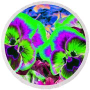 Pansy Power 60 Round Beach Towel