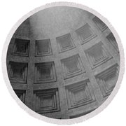 Pantheon Ceiling Round Beach Towel