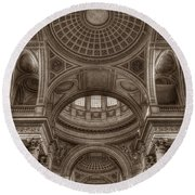 Pantheon Vault Round Beach Towel