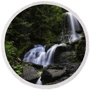 Panther Falls Round Beach Towel by James Heckt