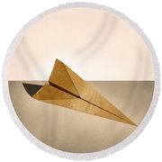 Paper Airplanes Of Wood 15 Round Beach Towel