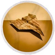 Paper Airplanes Of Wood 5 Round Beach Towel