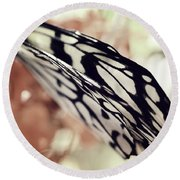 Paper Kite Butterfly Wings Round Beach Towel