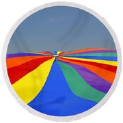 Parachute Of Many Colors Round Beach Towel