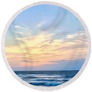 Paraclete At Sunrise  Round Beach Towel by Mary Ward