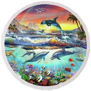 Paradise Cove Round Beach Towel