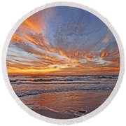 Round Beach Towel featuring the photograph Paradise Found by HH Photography of Florida