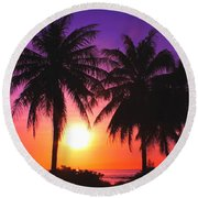 Paradise Is Waiting Round Beach Towel