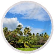 Round Beach Towel featuring the photograph Paradise Lagoon by David Lawson