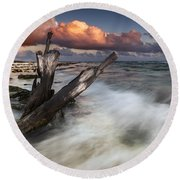 Paradise Lost Round Beach Towel by Mihai Andritoiu