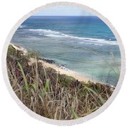 Paradise Overlook Round Beach Towel by Suzanne Luft