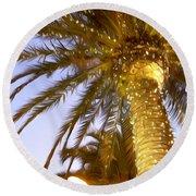 Paradise Palm Round Beach Towel