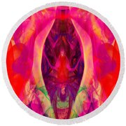 Round Beach Towel featuring the digital art Paradise Revisited by Clayton Bruster