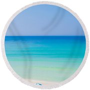 Paradise Round Beach Towel by Shelby  Young